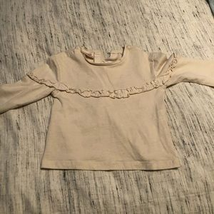Zara Cream Colored Long Sleeve Shirt
